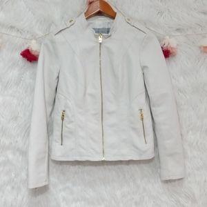 Andrew Marc New York white Moto jacket